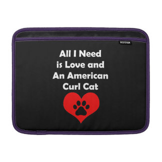 Todo lo que necesito es amor y un gato americano fundas macbook air