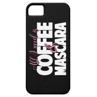 Todo lo que necesito es café y rimel iPhone 5 carcasas