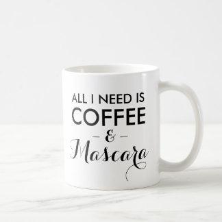 Todo lo que necesito es hipst divertido de la cita taza clásica