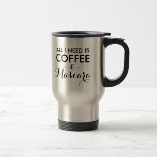 Todo lo que necesito es hipst divertido de la cita taza térmica