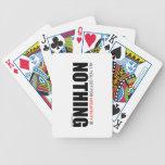 Todo lo que usted consigue para la negatividad no  baraja cartas de poker