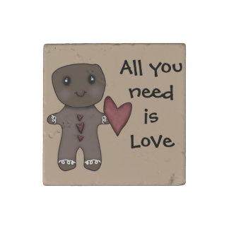 Todo lo que usted necesita es amor imán de piedra