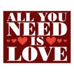 Todo lo que usted necesita es amor invitacion personal