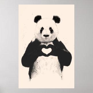 Todo lo que usted necesita es amor (la opción del  póster