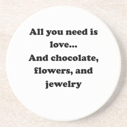 Todo lo que usted necesita es amor posavasos diseño