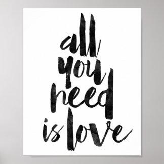 Todo lo que usted necesita es amor póster