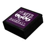 Todo lo que usted necesita es amor y béisbol caja de recuerdo