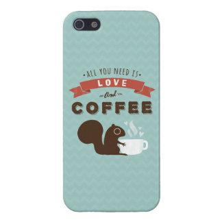 Todo lo que usted necesita es amor y café - iPhone 5 carcasa
