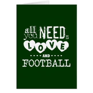 Todo lo que usted necesita es amor y fútbol tarjetón