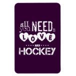 Todo lo que usted necesita es amor y hockey imanes flexibles
