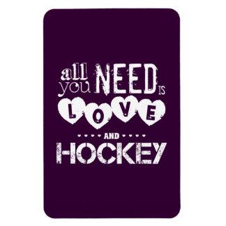 Todo lo que usted necesita es amor y hockey iman flexible