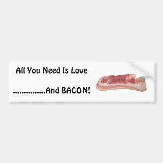 ¡Todo lo que usted necesita es amor y tocin Etiqueta De Parachoque