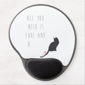 Todo lo que usted necesita es amor y un gato alfombrillas con gel