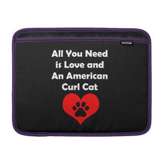 Todo lo que usted necesita es amor y un gato fundas macbook air
