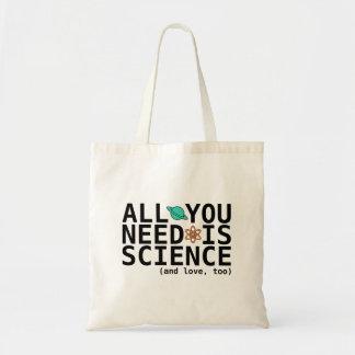 Todo lo que usted necesita es ciencia (y el amor,  bolsa tela barata