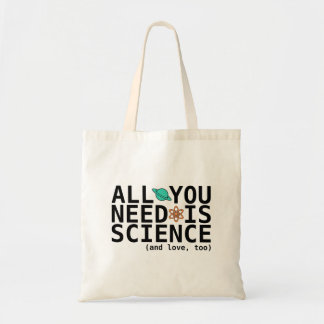 Todo lo que usted necesita es ciencia (y el amor,  bolsas lienzo