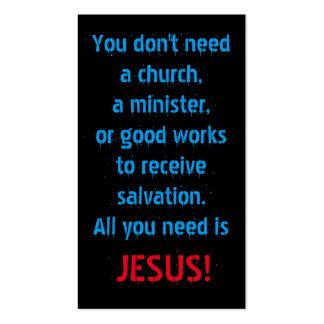 Todo lo que usted necesita es Jesús Tarjetas De Visita