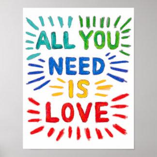 Todo lo que usted necesita es poster del amor