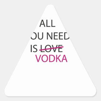 todo lo que usted necesita es vodka.ai calcomanías de trianguladas