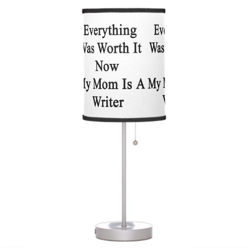 Todo lo valió ahora que mi mamá es escritor