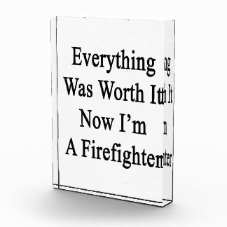 Todo lo valió ahora que soy bombero