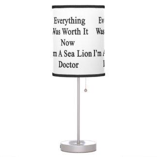 Todo lo valió ahora que soy doctor del león marino
