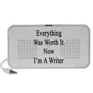 Todo lo valió ahora que soy escritor laptop altavoces