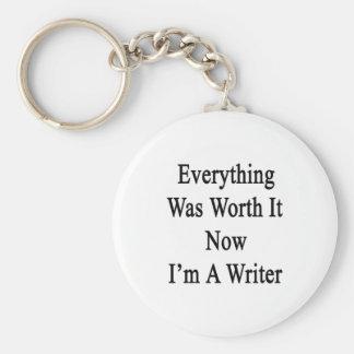 Todo lo valió ahora que soy escritor llaveros personalizados