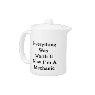 Todo lo valió ahora que soy mecánico