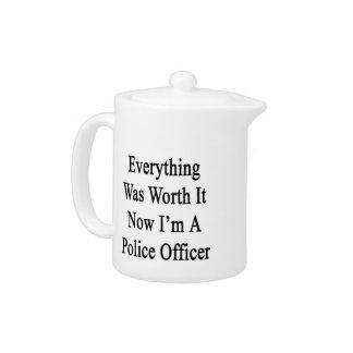 Todo lo valió ahora que soy oficial de policía