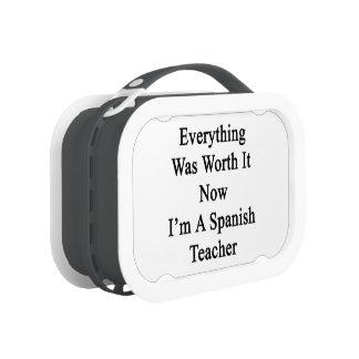Todo lo valió ahora que soy profesor español
