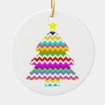 Todo menos árbol de navidad gris de Chevron Ornamentos De Navidad