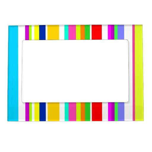 Todo menos rayas coloridas grises marcos magnéticos