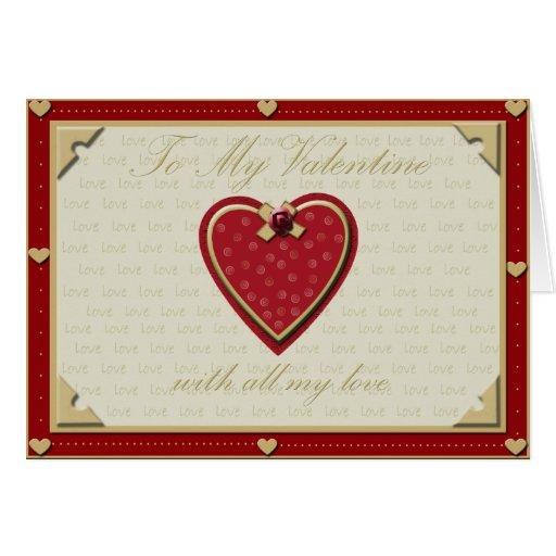 Todo mi amor tarjeta de felicitación