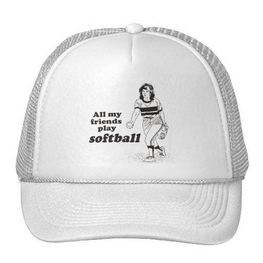 Todo mi softball del juego de los amigos gorras de camionero