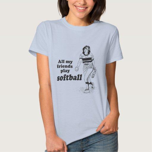 Todo mi softball del juego de los amigos playera