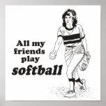 Todo mi softball del juego de los amigos poster