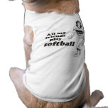 Todo mi softball del juego de los amigos ropa macota