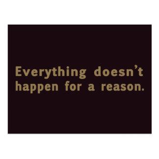 Todo no sucede por una razón postal