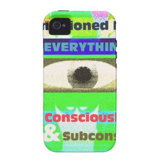 Todo nos condicionamos co y subco Case-Mate iPhone 4 carcasa