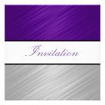 Todo ocasiona el fiesta de plata púrpura de las ra invitaciones personalizada