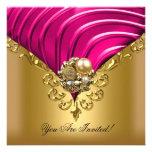 Todo ocasiona el oro rosado elegante comunicados personalizados