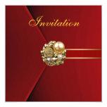 Todo ocasiona imagen del oro del terciopelo del invitación 13,3 cm x 13,3cm