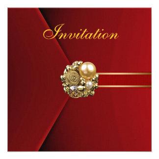 Todo ocasiona imagen del oro del terciopelo del ro invitaciones personalizada