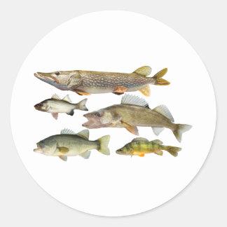 Todo-Pescados Pegatina Redonda
