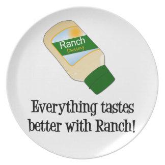 Todo prueba mejor con la placa del rancho platos de comidas
