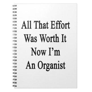 Todo que esfuerzo ahora lo valió yo es organista cuadernos