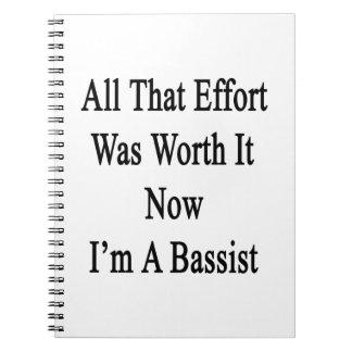 Todo que esfuerzo ahora lo valió yo es un bajista libretas
