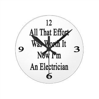 Todo que esfuerzo ahora lo valió yo es un reloj redondo mediano
