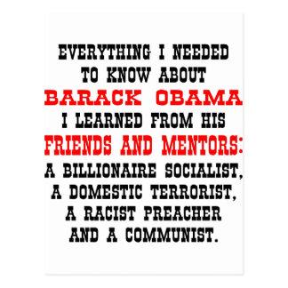 Todo que necesito saber sobre Barack Obama Tarjeta Postal